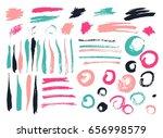 vector brush stroke. grunge ink ... | Shutterstock .eps vector #656998579