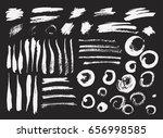 vector brush stroke. grunge ink ... | Shutterstock .eps vector #656998585