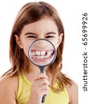 Beautiful Girl Showing Teethes...