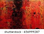 grunge background red | Shutterstock . vector #656999287