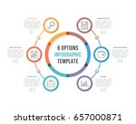 circle infographic template... | Shutterstock .eps vector #657000871