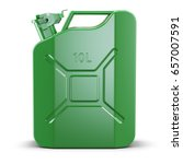 Green Metal Jerry Can Isolated...