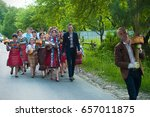 traditional hutsul wedding in... | Shutterstock . vector #657011875