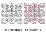 abstract maze   labyrinth with... | Shutterstock .eps vector #657020941
