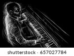 pianist plays the piano... | Shutterstock . vector #657027784