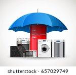 umbrella insurance concept  ... | Shutterstock .eps vector #657029749