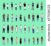 diversity people set gesture... | Shutterstock . vector #657038125