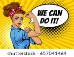 we can do it poster. pop art... | Shutterstock .eps vector #657041464