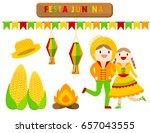 illustration vector flat... | Shutterstock .eps vector #657043555
