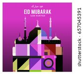 vector muslim abstract greeting ... | Shutterstock .eps vector #657045391