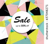black market half price off... | Shutterstock .eps vector #657048271