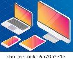 isometric vector set of... | Shutterstock .eps vector #657052717