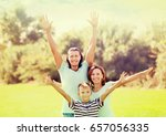 portrait of happy family of... | Shutterstock . vector #657056335