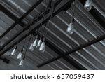 industrial pendant lamps. the... | Shutterstock . vector #657059437