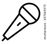 mic vector icon   Shutterstock .eps vector #657065575