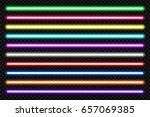 neon tube light pack isolated... | Shutterstock .eps vector #657069385