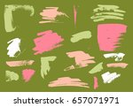 vector brush stroke. grunge ink ... | Shutterstock .eps vector #657071971