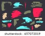 vector brush stroke. grunge ink ... | Shutterstock .eps vector #657072019