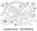 coloring pages. little cute... | Shutterstock .eps vector #657083815