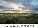 Aerial Suburban Neighborhood A...