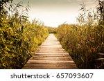 wooden path | Shutterstock . vector #657093607