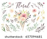 hand drawing isolated boho... | Shutterstock . vector #657094681