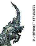 head of serpent mortar thai... | Shutterstock . vector #657100831