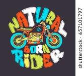 cool motorcycle print design ... | Shutterstock .eps vector #657101797