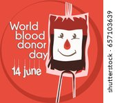 world blood donor day... | Shutterstock .eps vector #657103639