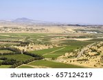 landscape view of the golan... | Shutterstock . vector #657124219
