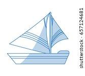 sailboat icon design | Shutterstock .eps vector #657124681