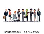 business characters vector line ... | Shutterstock .eps vector #657125929