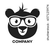 bear with glasses logo | Shutterstock .eps vector #657125974