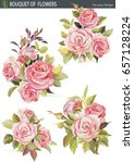 vector element set with bouquet ... | Shutterstock .eps vector #657128224