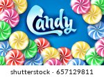sweet lollipop candy colorful... | Shutterstock .eps vector #657129811