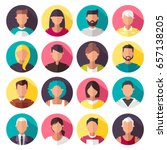 set of colorful vector icons.... | Shutterstock .eps vector #657138205