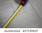 yellow tape measure measuring... | Shutterstock . vector #657139819