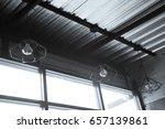 industrial pendant lamps. the... | Shutterstock . vector #657139861