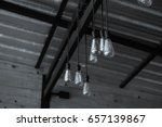 industrial pendant lamps. the... | Shutterstock . vector #657139867