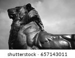 Bronze Lion Close Up From...