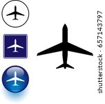 aircraft symbol sign and button | Shutterstock .eps vector #657143797