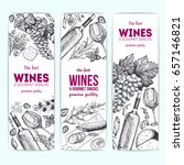 wines and gourmet snacks banner ... | Shutterstock .eps vector #657146821
