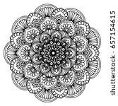 mandalas for coloring book.... | Shutterstock .eps vector #657154615