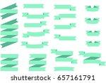 flat vector ribbons banners... | Shutterstock .eps vector #657161791