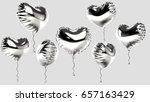 3d Rendered Foil Silver Heart...