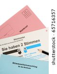 Small photo of Absentee ballot for the German election