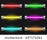 realistic neon tube light pack...   Shutterstock .eps vector #657171061