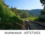 A Railway Track In Sri Lanka...