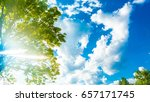 background sunny day sky with... | Shutterstock . vector #657171745