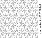 seamless pattern leaves vector... | Shutterstock .eps vector #657178144
